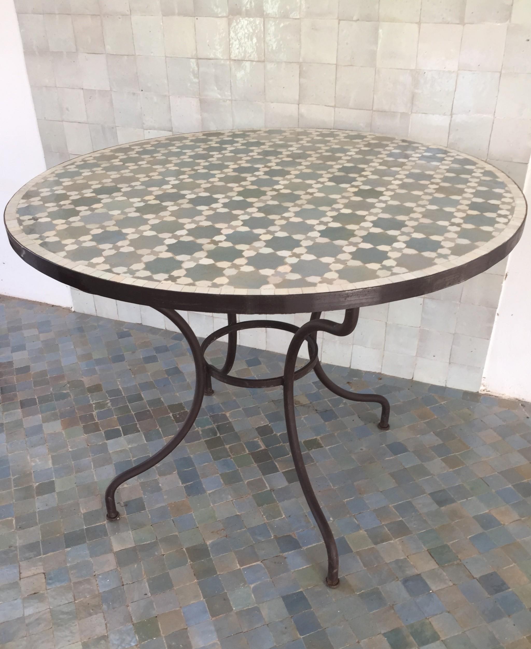 Table Ronde Zellige Art Et Sud Deco