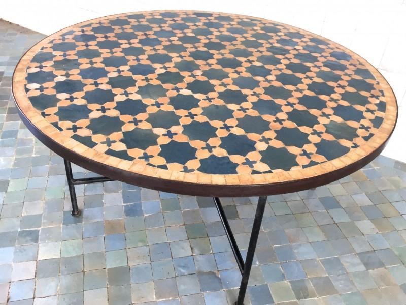 table basse ronde zellige art et sud d co. Black Bedroom Furniture Sets. Home Design Ideas
