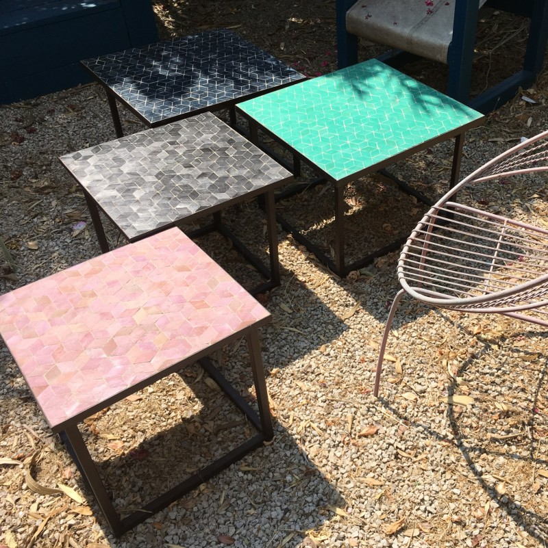 Tables Zellige Motif Cube 28 coloris disponibles
