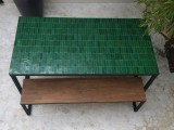 Table Zellige Vert V4 Motif Rectangle