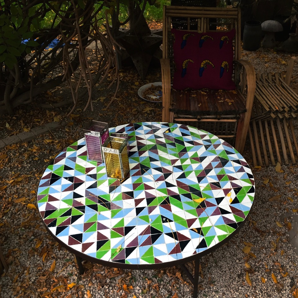 Table Ronde 100cm Motif Triangle artetsud
