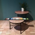Table ronde Motif Cube
