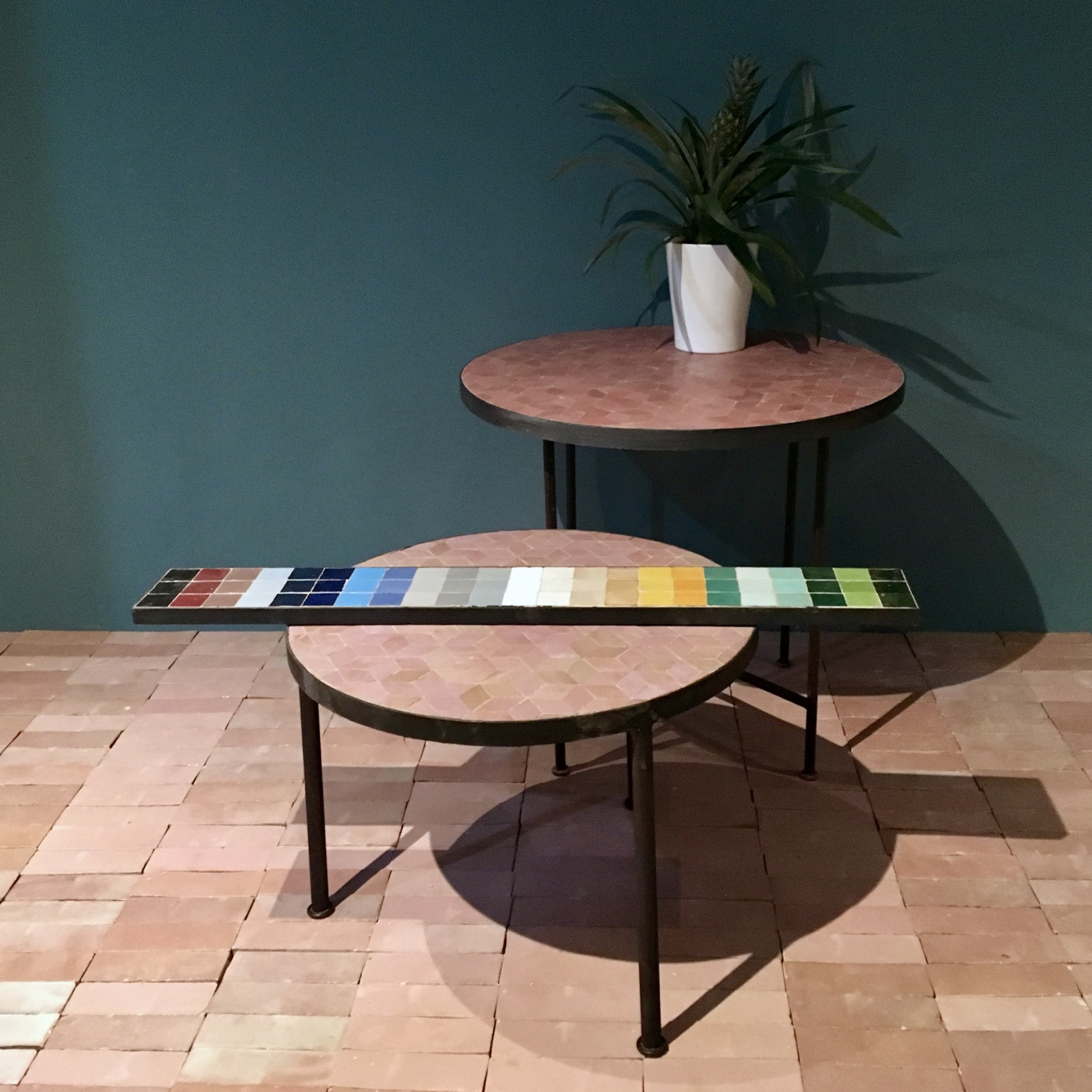 Table d'appoint Motif Cube artetsud