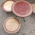 Tables Zelliges Beige et Rouge