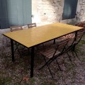 Table Zellige Motif Rectangle Jaune J1