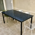 Table Zellige Motif Rectangle Bleu B2