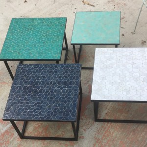 Tables Zellige Motif Cube