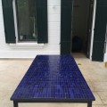 Table Zellige Motif Rectangle Bleu B3